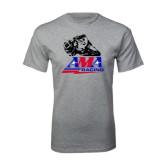 Grey T Shirt-AMA RoadRacing