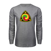 Grey Long Sleeve T Shirt-AMA Vintage Logo