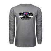 Grey Long Sleeve T Shirt-AMA LongRider
