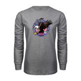 Grey Long Sleeve T Shirt-AMA Freedom Rider