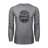 Grey Long Sleeve T Shirt-Retro 1924 in Oval Design