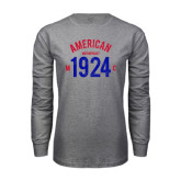 Grey Long Sleeve T Shirt-Arched American MC 1924