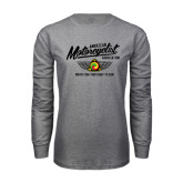 Grey Long Sleeve T Shirt-Protecting Your Right To Ride