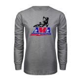 Grey Long Sleeve T Shirt-AMA Flat Track Racing