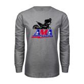 Grey Long Sleeve T Shirt-AMA Offroad Racing