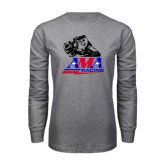 Grey Long Sleeve T Shirt-AMA RoadRacing