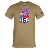 Khaki Gold T Shirt-2017 US ISDE Team