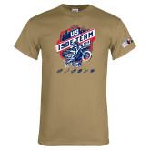 Khaki Gold T Shirt-US ISDE Team