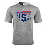 Performance Grey Heather Contender Tee-AMA US Trial Des Nations Team