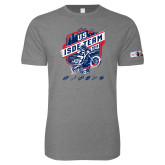 Next Level SoftStyle Heather Grey T Shirt-US ISDE Team