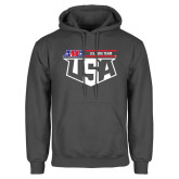 Charcoal Fleece Hood-AMA US ISDE Team