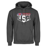 Charcoal Fleece Hoodie-US Motorcross Team