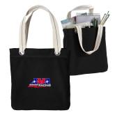 Allie Black Canvas Tote-AMA Racing