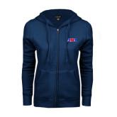 ENZA Ladies Navy Fleece Full Zip Hoodie-AMA