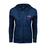 ENZA Ladies Navy Fleece Full Zip Hoodie-AMA Racing
