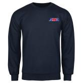 Navy Fleece Crew-AMA