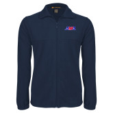 Fleece Full Zip Navy Jacket-AMA