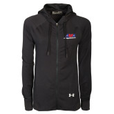 Ladies Under Armour Black Varsity Full Zip Hoodie-AMA Racing