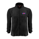 Fleece Full Zip Black Jacket-AMA