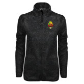 Black Heather Ladies Fleece Jacket-Charter Life Member