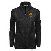Black Heather Ladies Fleece Jacket-Charter Life Member