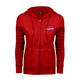 ENZA Ladies Red Fleece Full Zip Hoodie-AMA Racing