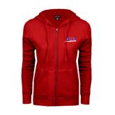ENZA Ladies Red Fleece Full Zip Hoodie-AMA Racing
