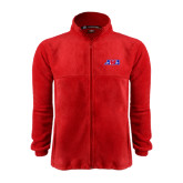 Fleece Full Zip Red Jacket-AMA