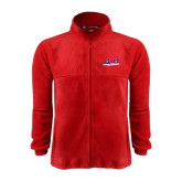 Fleece Full Zip Red Jacket-AMA Racing
