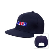 Navy Flat Bill Snapback Hat-AMA