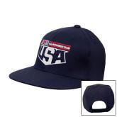 Navy Flat Bill Snapback Hat-US Motorcross Team