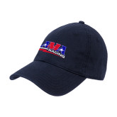 Navy Twill Unstructured Low Profile Hat-AMA Racing