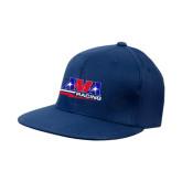 Navy OttoFlex Flat Bill Pro Style Hat-AMA Racing