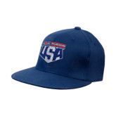 Navy OttoFlex Flat Bill Pro Style Hat-AMA US Trial Des Nations Team