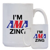 Full Color White Mug 15oz-AMA Zing