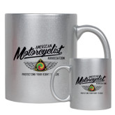 Full Color Silver Metallic Mug 11oz-Protecting Your Right To Ride