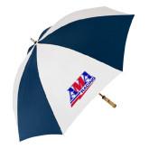 62 Inch Navy/White Umbrella-AMA Racing