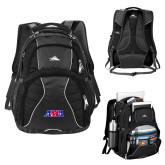 High Sierra Swerve Black Compu Backpack-AMA