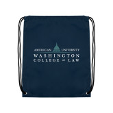 Navy Drawstring Backpack-Official Mark
