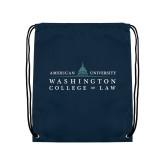 Navy Drawstring Backpack-Official Mark