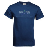 Navy T Shirt-Official Mark w Tagline Flat