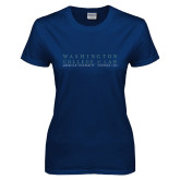 Ladies Navy T Shirt-Founded 1896
