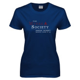 Ladies Navy T Shirt-The Myers Society