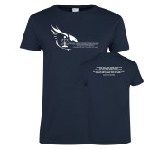 Ladies Navy T Shirt-Black Law Students Association