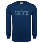 Navy Long Sleeve T Shirt-Official Mark