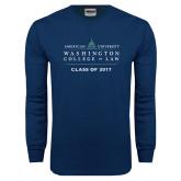Navy Long Sleeve T Shirt-Class of