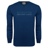 Navy Long Sleeve T Shirt-Founded 1896
