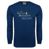 Navy Long Sleeve T Shirt-The Gold Society