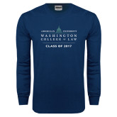 Navy Long Sleeve T Shirt-Class of, Personalized