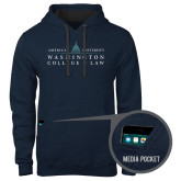 Contemporary Sofspun Navy Heather Hoodie-Official Mark